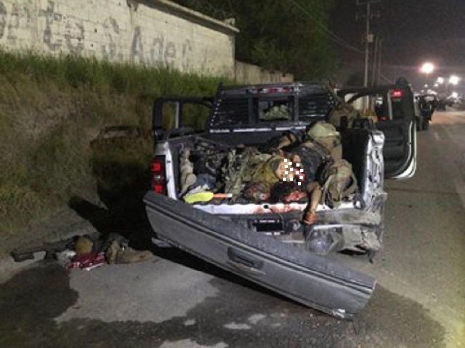 FOTOS: Así quedaron 12 sicarios de Tropa del Infierno tras atacar a soldados mexicanos