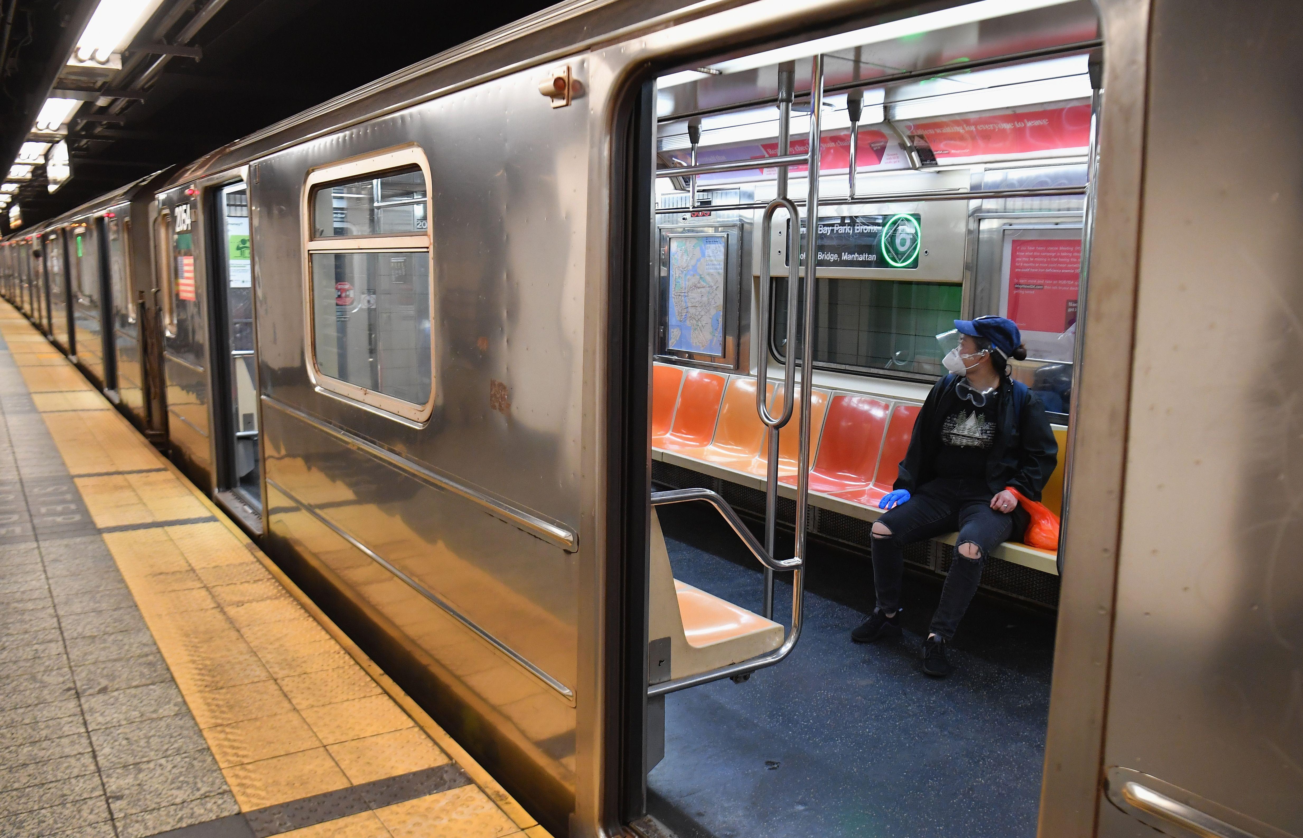 Coronavirus subway nueva York