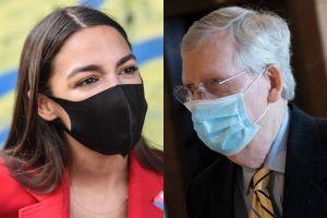 """Ocasio-Cortez llama """"flojos"""" a republicanos y pide que trabajen para aprobar otro cheque de estímulo"""