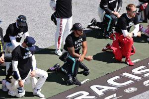 Lewis Hamilton lleva las protestas contra la violencia racial hasta la Fórmula 1, pero no todos lo apoyan