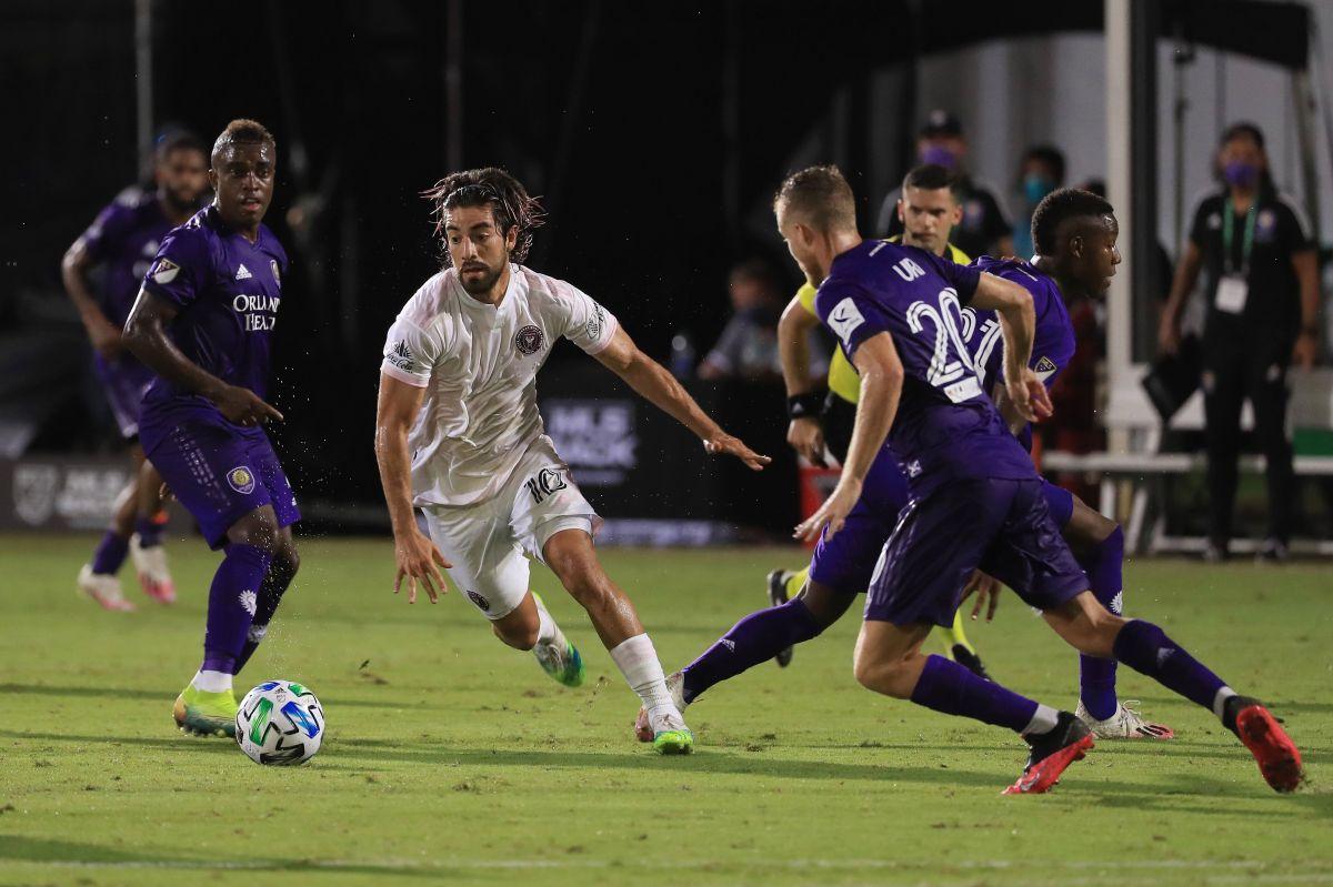 """El atacante mexicano Rodolfo Pizarro marcó por primera ocasión en el torneo """"MLS is Back""""."""