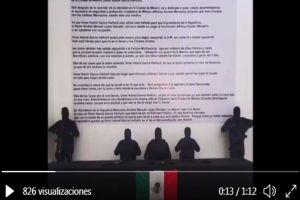 VIDEO: CJNG acusa a funcionario mexicano de proteger a otros cárteles y narcos