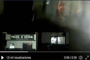 VIDEO: Sicarios del CJNG disparan cientos de balazos contra estación de policías