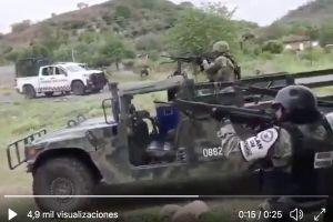 VIDEO: Así se defienden soldados mexicanos de emboscada de narcos