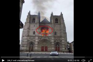 VIDEO: Captan supuesto rostro diabólico durante incendio en catedral