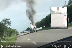VIDEO: Narcoavioneta incendiada llevaba cocaína con valor de más de $5mdd