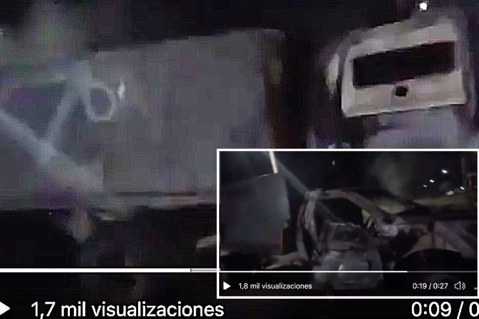 VIDEO: Trocas monstruo del Cártel del Noreste quedan calcinadas tras enfrentamiento con soldados