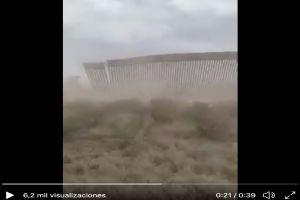 ¿Es falso el video de huracán 'Hanna' derribando el muro fronterizo?