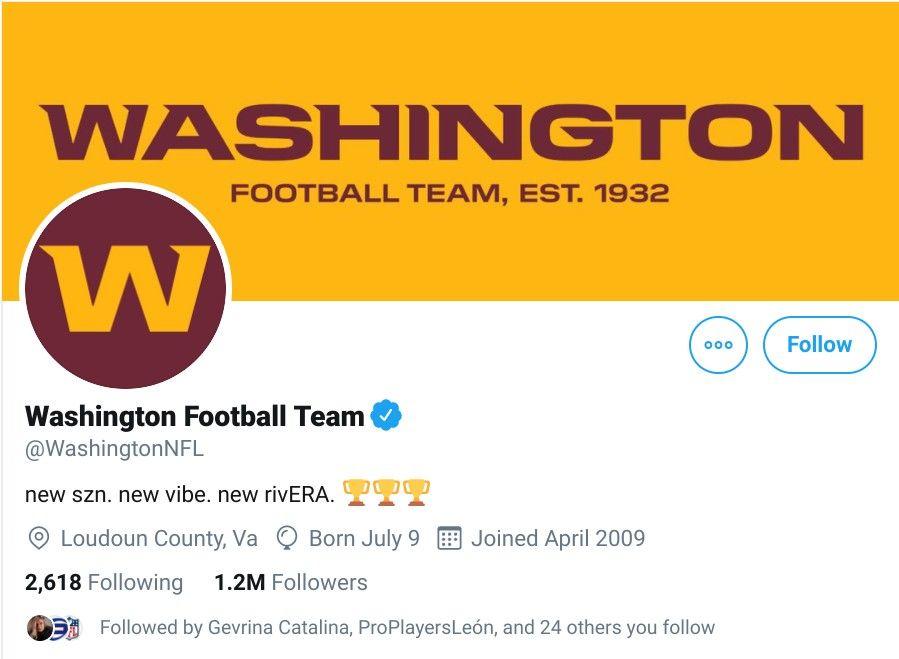 Empiezan a borrar imágenes de Redskins y nace el Washington Football Team