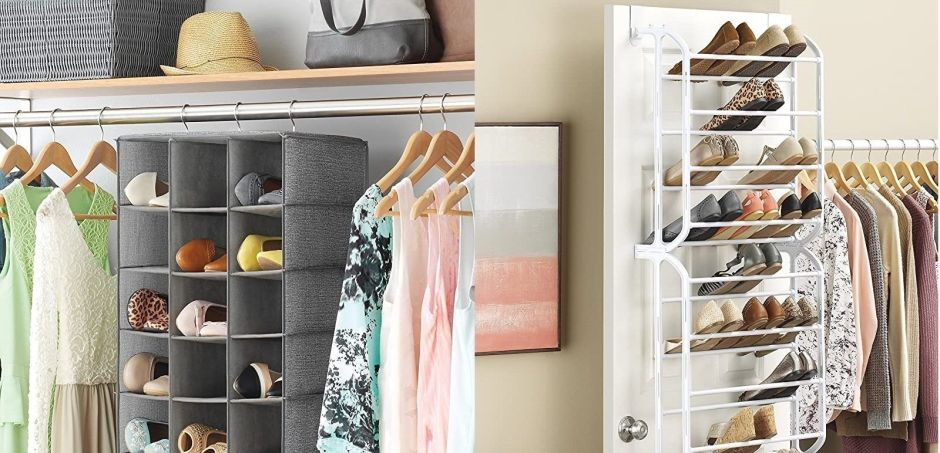 ¿Necesitas espacio en tu closet? Mira estas 4 zapateras colgantes por menos de $30