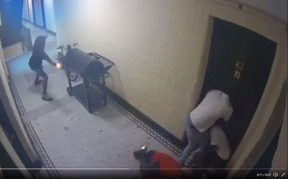 Video grabó doble homicidio durante balacera en un pasillo residencial en El Bronx