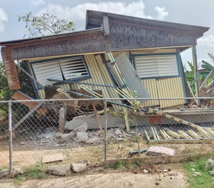 Puerto Rico: Colapsa una casa en Lajas tras temblor magnitud 4.9