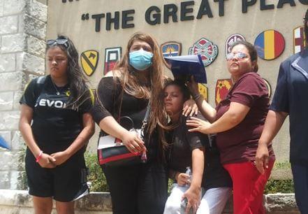 La familia de Vanessa Guillén en Fort Hood.