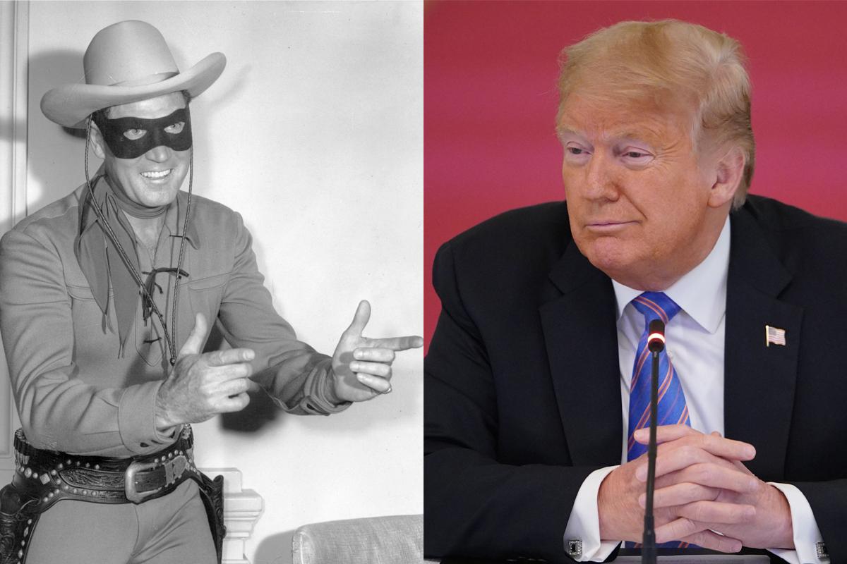 """Trump dice que se parece al """"Llanero Solitario"""" cuando usa mascarilla"""