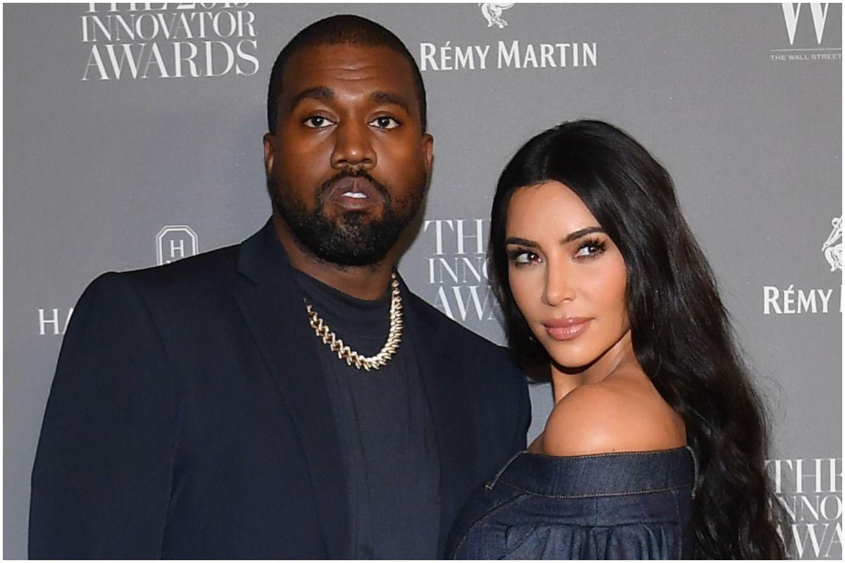 """Kim Kardashian y sus hijos asisten al evento de lanzamiento del álbum """"Donda"""" de Kanye West."""