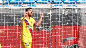 Una noche sin importancia para el Barcelona acabó siendo otra noche mágica para Leo Messi