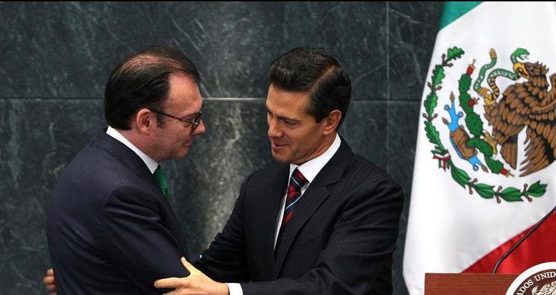 Luis Videgaray y Enrique Peña Nieto.