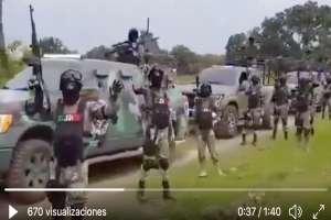 VIDEO: CJNG usa drones y cargados con explosivos C4 para atacar a rivales