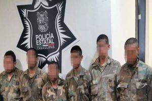 FOTOS: Caen 6 sicarios del Cártel del Noreste con arsenal a unas millas de la frontera