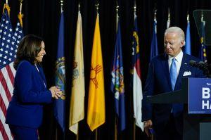 """Kamala Harris se lanza contra """"el fallido gobierno"""" de Trump en primer discurso conjunto con Joe Biden"""