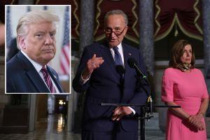 Líderes demócratas presionan a Trump para negociar plan de ayuda que integra los $1,200 por persona