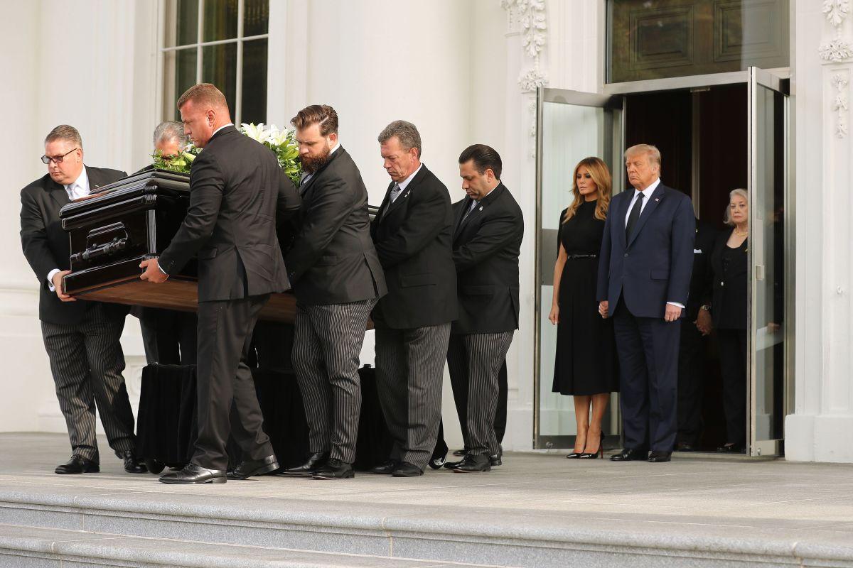 Trump realizó el funeral de su hermano Robert en la Casa Blanca