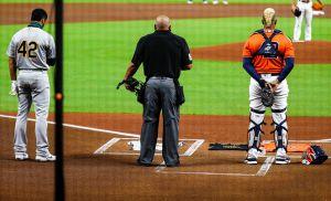 Astros y Athletics esta vez no pelean: se unen contra el racismo antes del juego y abandonan el campo