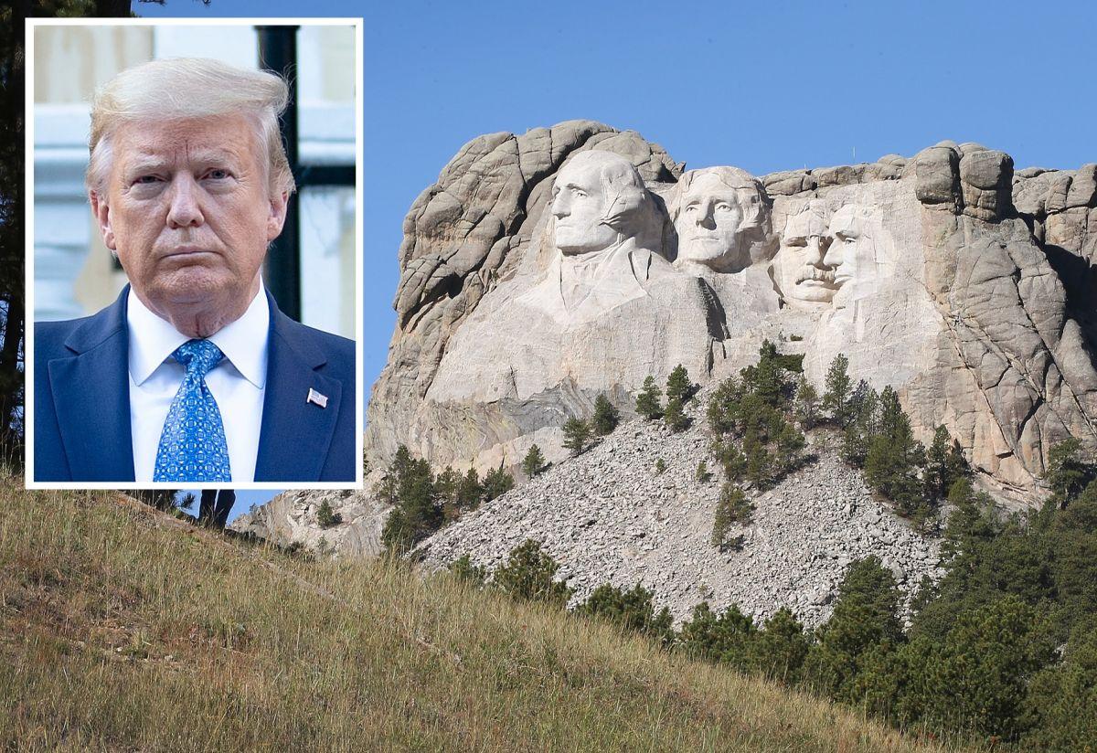 """Trump dice que es """"buena idea"""" esculpir su rostro al lado de fundadores de la Patria en Monte Rushmore"""