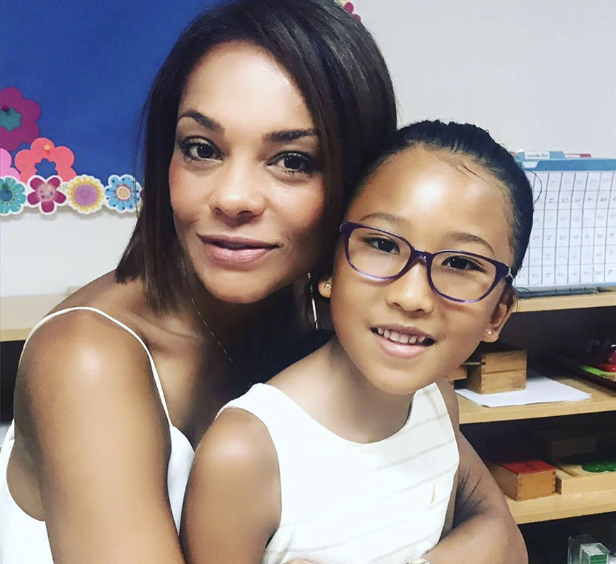 Ilia Calderón y su hija Anna