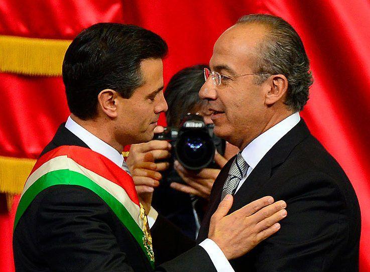 Enrique Peña Nieto y Felipe Calderón.