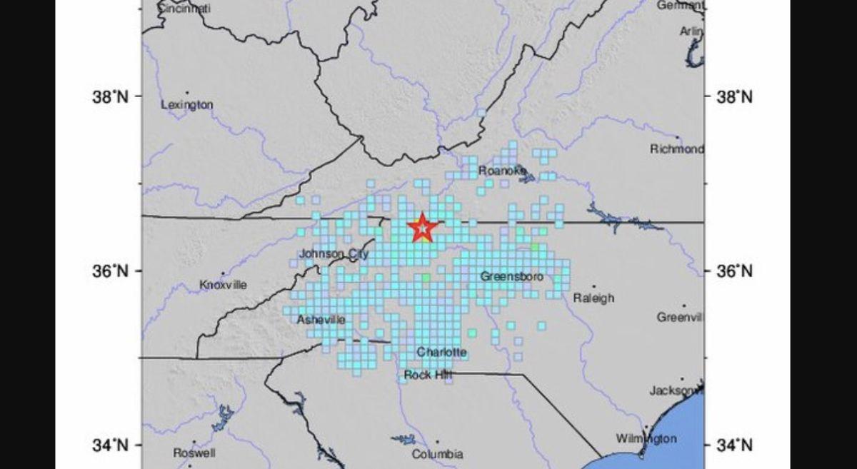 North Carolina sacudida por el sismo más fuerte en 104 años