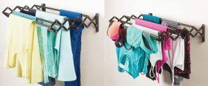 5 percheros plegables para secar tu ropa ideales para casas con poco espacio