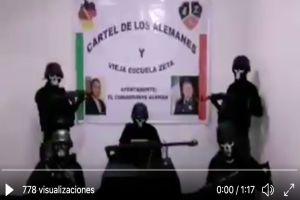 """VIDEO: """"O se alinean o se mueren"""" amenaza Cártel de los Alemanes a autoridades y rivales"""