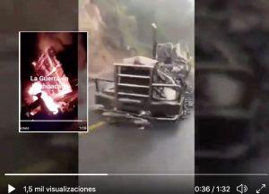 VIDEO: CJNG exhibe a Cárteles Unidos y los acusa de haber quemado tráiler