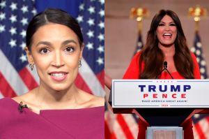 Alexandria Ocasio-Cortez critica a Kimberly Guilfoyle, la novia boricua de Donald Trump Jr.