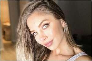 Romina Malaspina exhibe sus atributos en bikini hilo dental