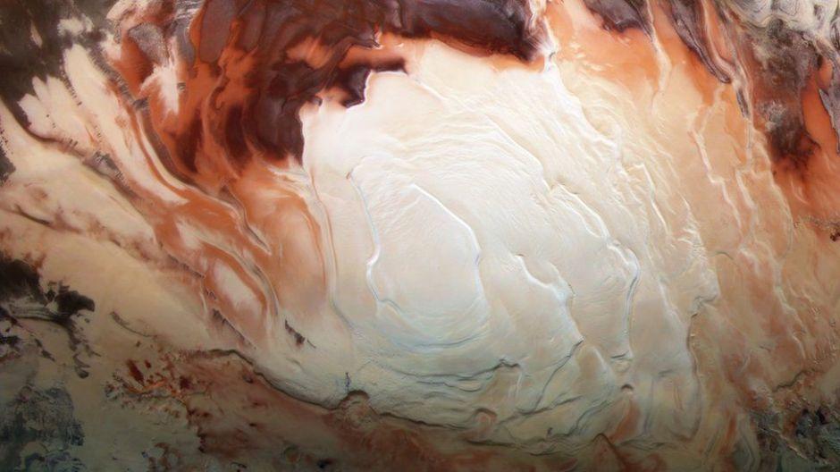 El descubrimiento de lagos subterráneos en el polo sur de Marte (y qué nos dice esto sobre la posibilidad de que haya vida)