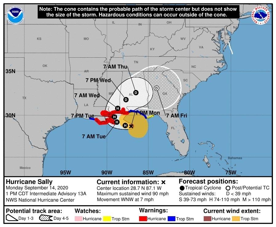 Video en vivo muestra peligrosa marejada en Pensacola, Florida, por huracán Sally; se esperan hasta 30 pulgadas de lluvia en algunas zonas