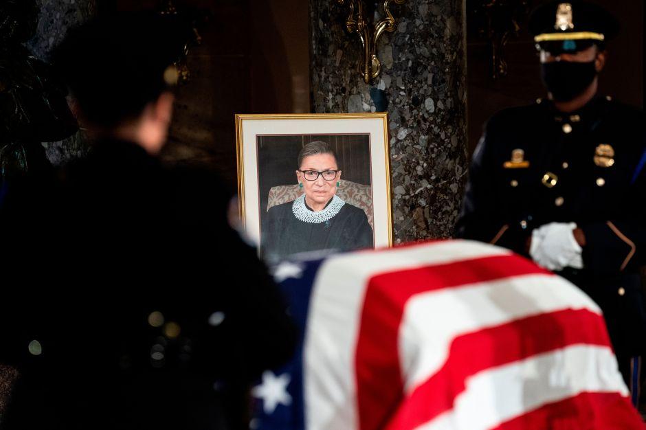 Sepelio de la jueza Ginsburg: Por primera vez velan en el Capitolio a una mujer