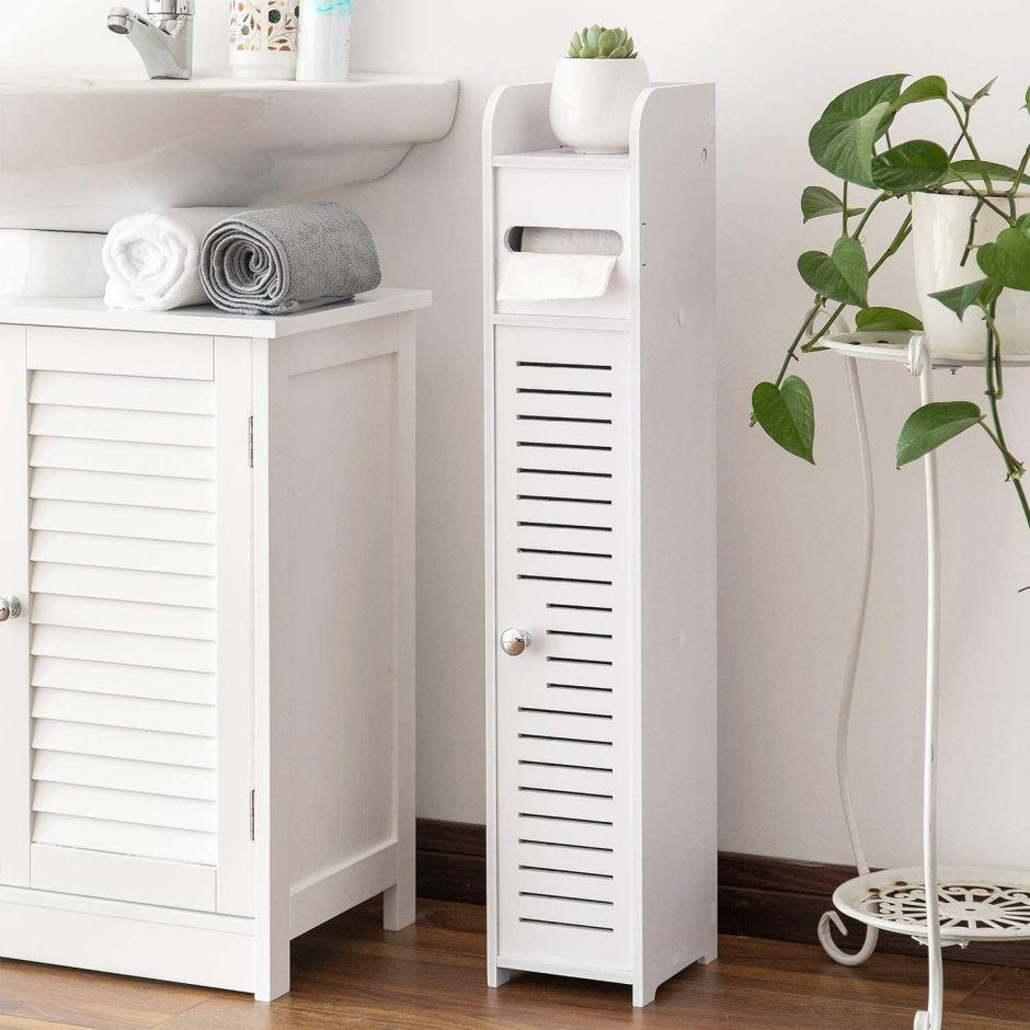 Los mejores muebles para baños pequeños que ahorran espacio y lucen modernos