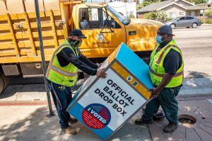 Instalan buzones para votar en bibliotecas y parques de Los Ángeles