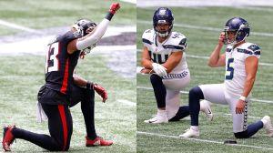 Falcons y Seahawks se unen para arrodillarse en kickoff inicial