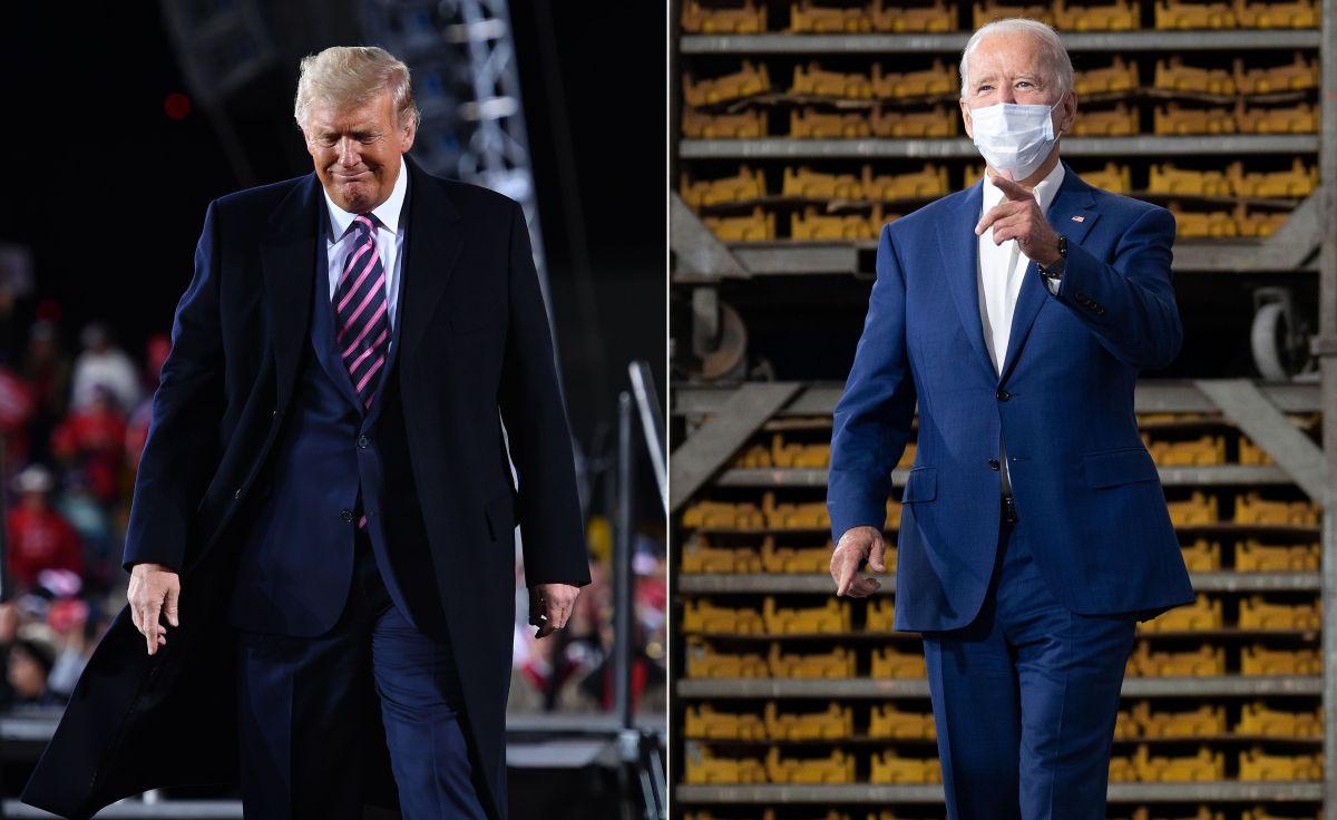 Trump y Biden se miden en noviembre.