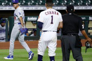 Pitcher de los Dodgers es inmortalizado por lanzar pelotazos y burlarse de los Astros