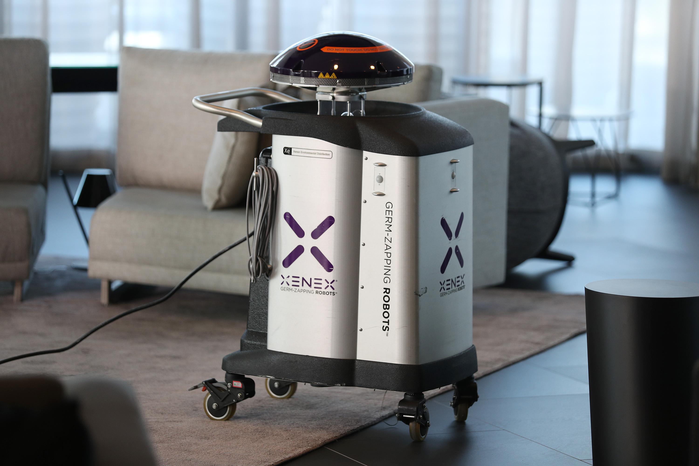Robot para desinfección doméstica.