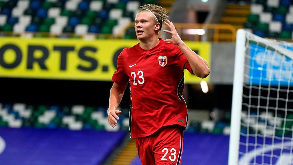 Haaland lidera a Noruega en la victoria ante Irlanda del Norte con marcador 1-5.