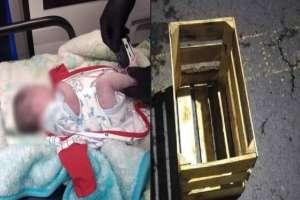 Hallan a bebito recién nacido abandonado dentro de caja, se estaba congelando