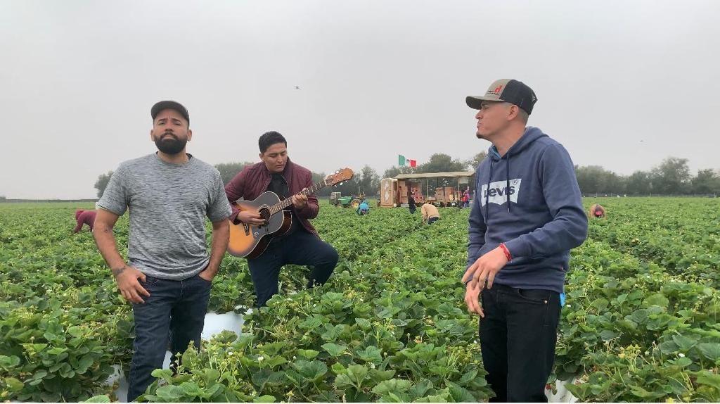Dúo musical rinde tributo a campesinos por COVID-19