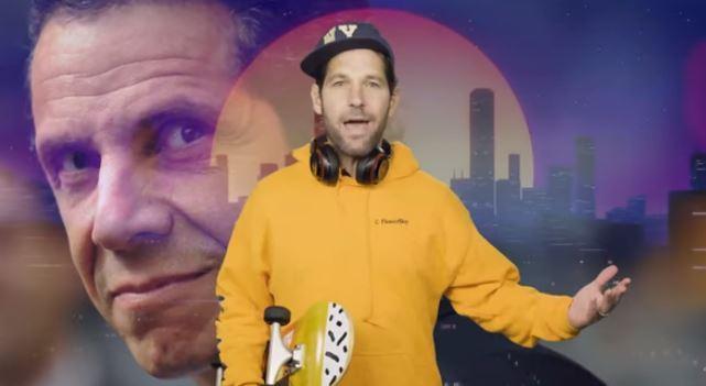 Se viraliza video cómico del actor Paul Rudd y gobernador Cuomo pidiendo a jóvenes de Nueva York usar mascarillas