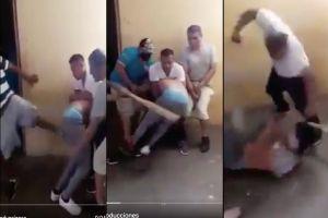 "VIDEO: A tablazos narcos interrogan a hombre dentro de cárcel para después ""molerlo"" a golpes"